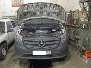 Удаление сажевого фильтра на Mercedes Vito 111 W447 1.6TDi 114лс в Липецке